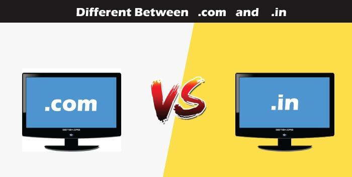 com vs in