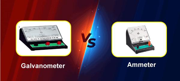 Galvanometer vs Ammeter