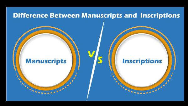 Manuscripts vs Inscriptions