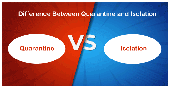 Quarantine vs Isolation
