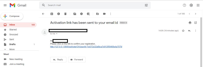 Django User Registration with Email Confirmation