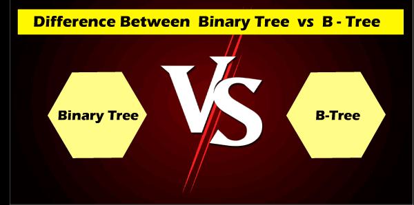 Binary Tree vs B Tree