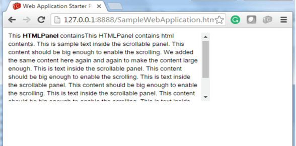 GWT Scroll Panel