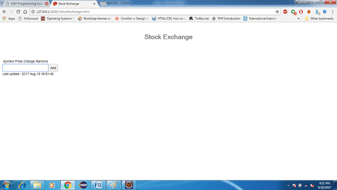 GWT Stock Exchange App 1