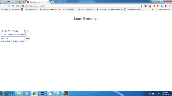 GWT Stock Exchange App 2