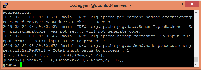 Apache Pig AVG Function