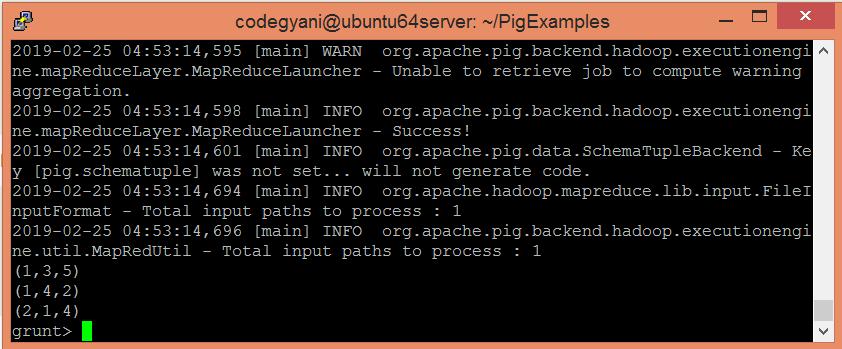 Apache Pig DISTINCT Operator