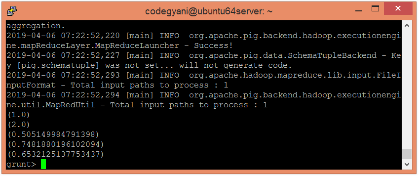 Apache Pig LOG10 Function