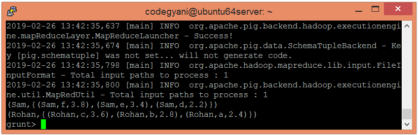 Apache Pig MAX Function