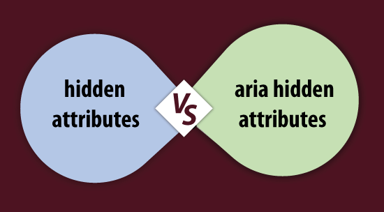 Difference between 'hidden' and 'aria-hidden attributes in HTML