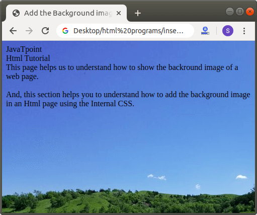 How to add Background Image in Html