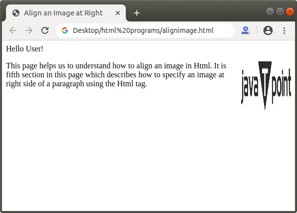 How to align image in Html