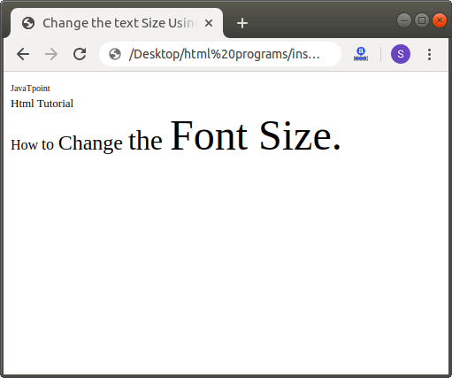 How to Change Font Size in Html