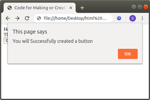 How to make a Button in Html