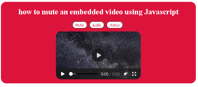 How to mute video in HTML?