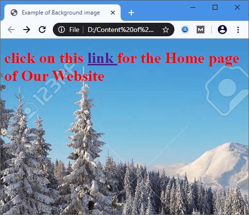 HTML Background Image