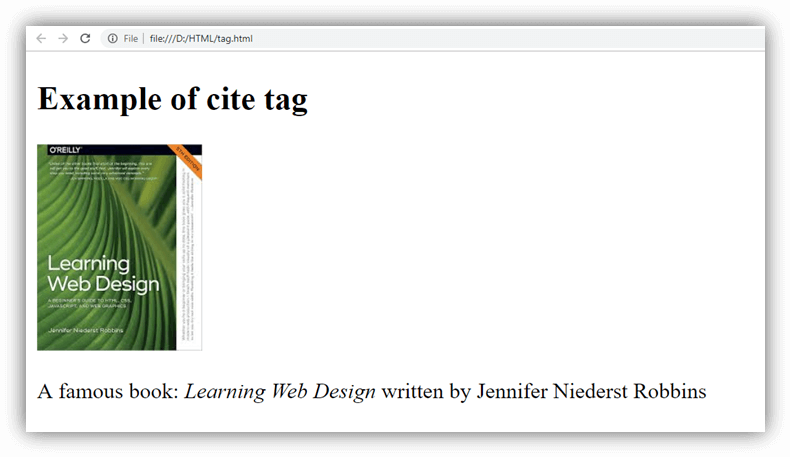 HTML cite tag