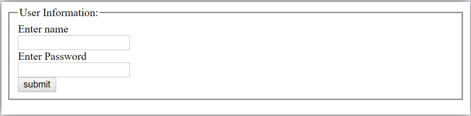HTML fieldset element