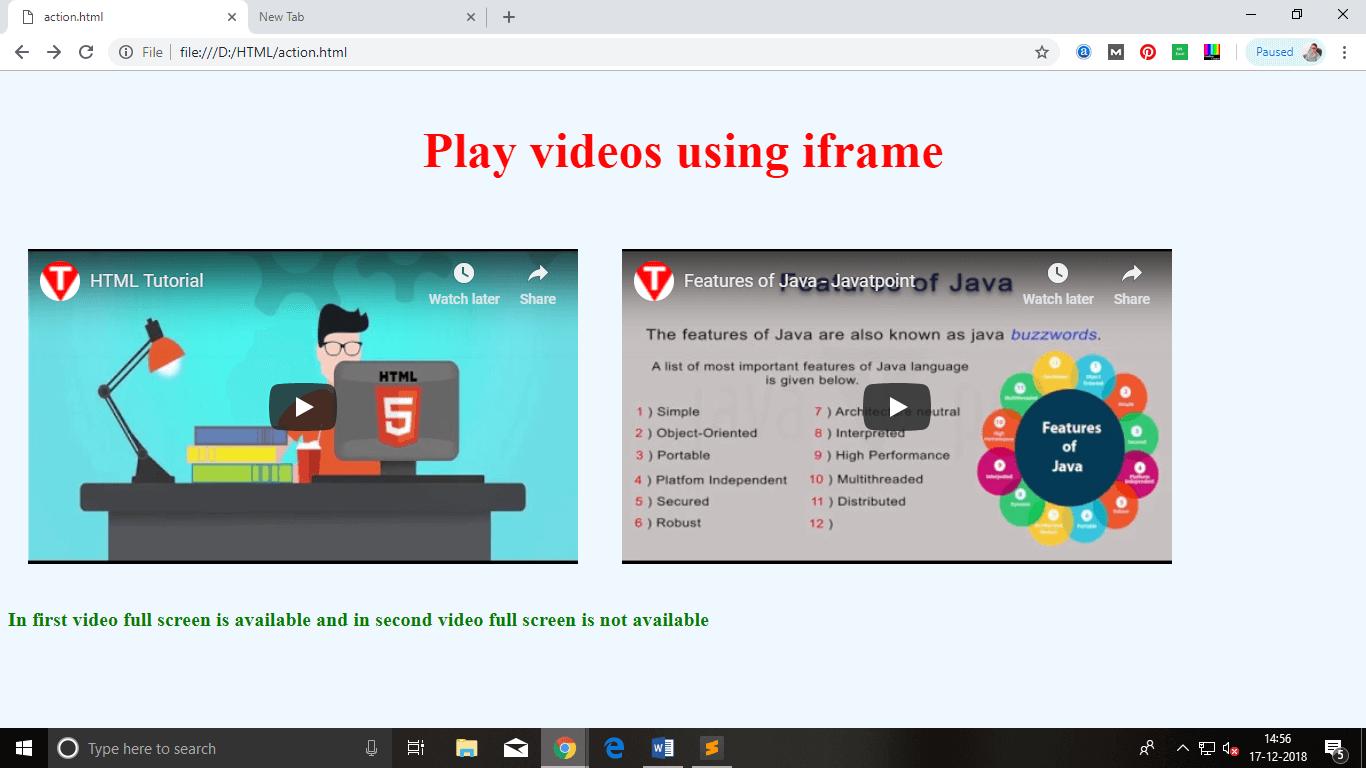 HTML Iframes - javatpoint