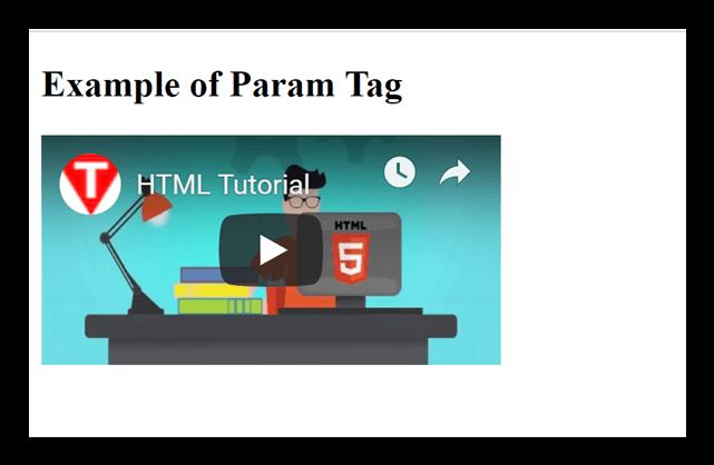 HTML param tag