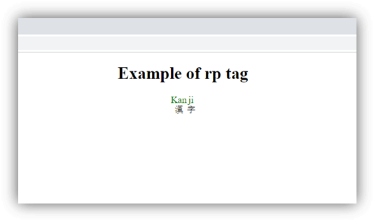 HTML rp tag