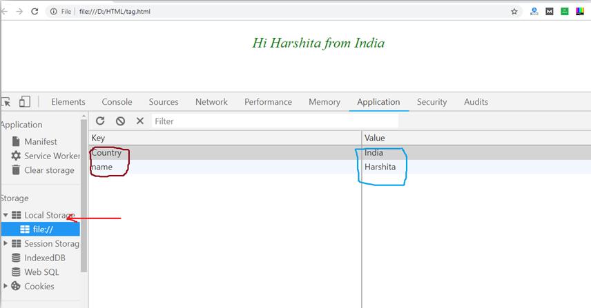 HTML Web Storage
