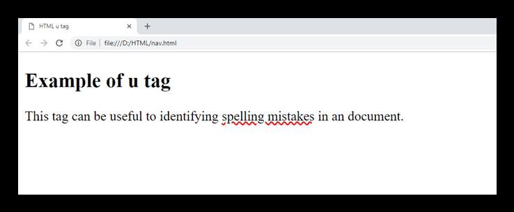 HTML u tag