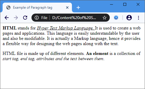 Simple HTML Pages