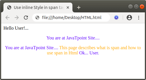 What does span do in Html