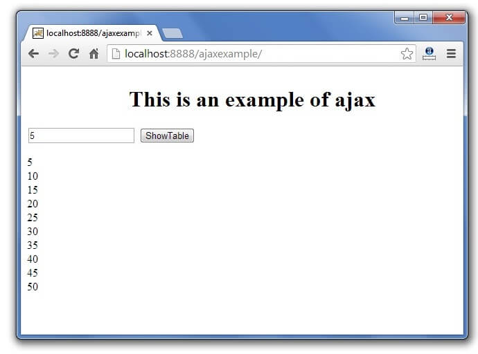 ajax example output