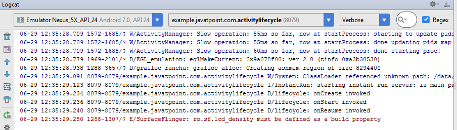 android activity life cycle example output 7