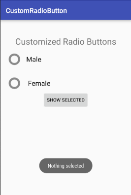 android Custom Radio Button 1
