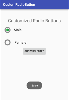 android Custom Radio Button 2