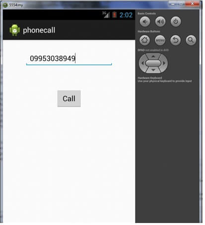 android phone call example output 1