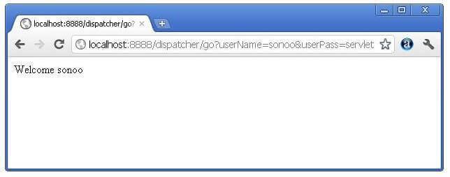 Example of RequestDispatcher