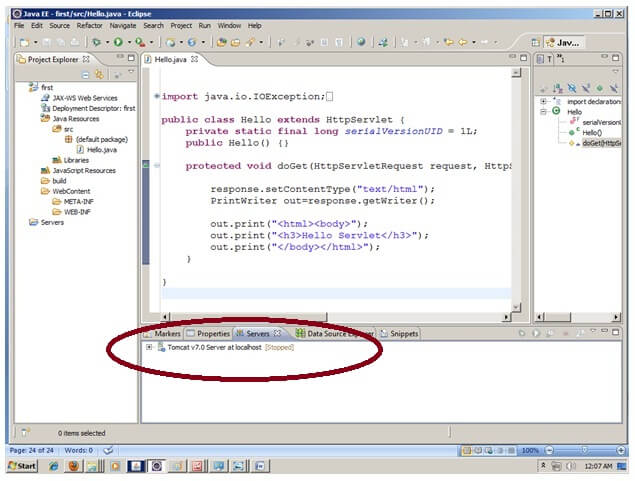 Creating Servlet in Eclipse IDE - javatpoint