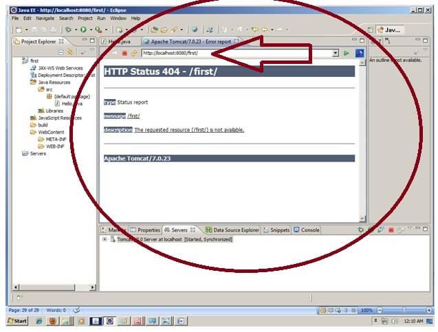 Creating Servlet in eclipse IDE