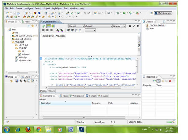 Creating Servlet in myeclipse IDE