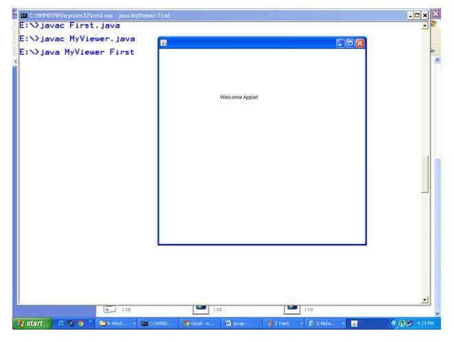 Example that works like appletviewer tool