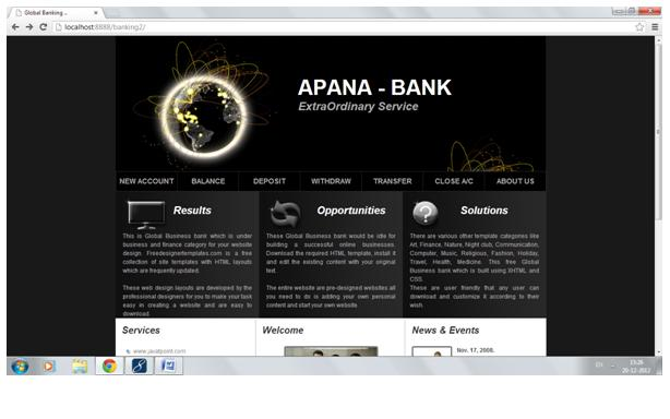 Online Banking Project | JSP Projects - javatpoint