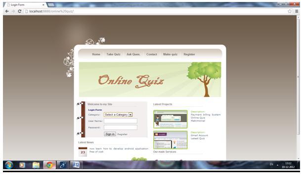 Online Quiz Project | JSP Projects - javatpoint