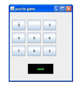 Puzzle Game in Java with Source Code - javatpoint