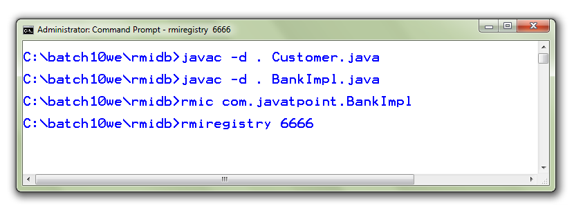 RMI example with database