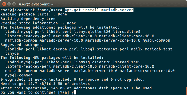 Software MariaDB 1
