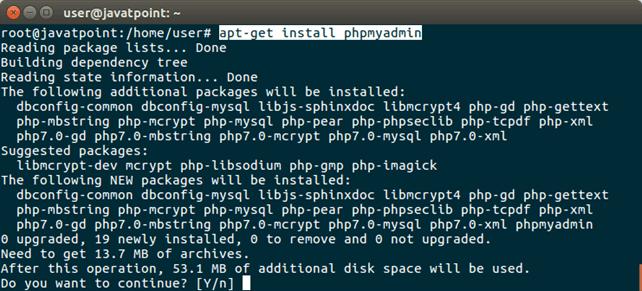 Software PhpMyAdmin 2