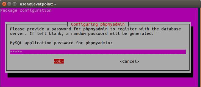 Software PhpMyAdmin 6