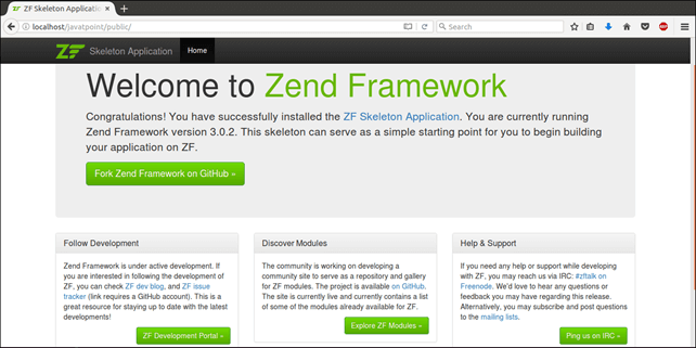 How to Install Zend Framework in Ubuntu - javaTpoint