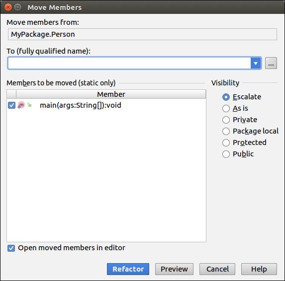 IntelliJ IDEA Code Refactoring