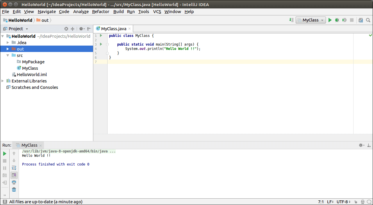 IntelliJ IDEA First Java Program