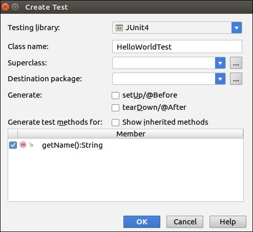 IntelliJ IDEA Unit Test